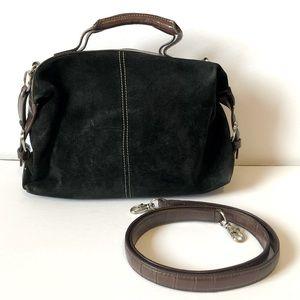 Vintage TIGNANELLO suede black/brown satchel EUC